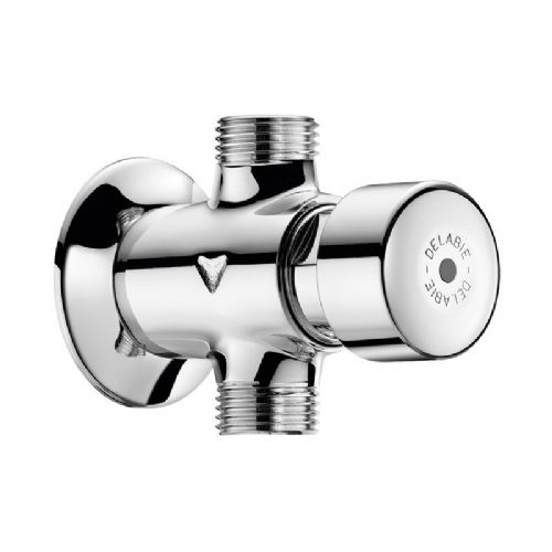 Delabie 777000 TEMPOSTOP Wall-Mounted Push Time-Flow Inline Urinal Flush Valve